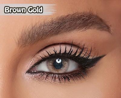 Amara Brown Gold Al Waleed Optics 2 - Amara Contact Lenses
