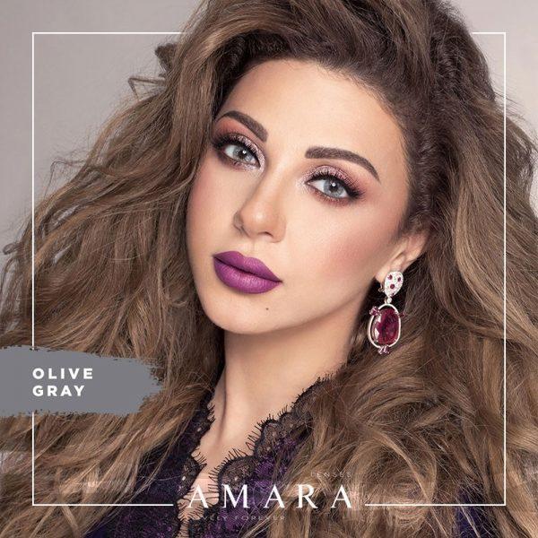 Amara Olive Gray Al Waleed Optics 600x600 - Amara Contact Lenses