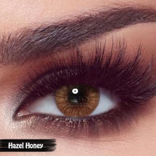 Bella One Day Hazel Honey Alwaleed Optics 510x510 - Bella One Day Contact Lenses